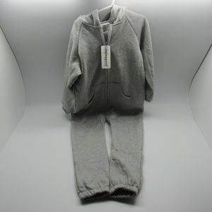 Pajoggers Sweat Suit W/ Hood Toddler Size XL Gray